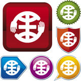 Serie del icono: manos en el corazón (vector) Fotografía de archivo libre de regalías