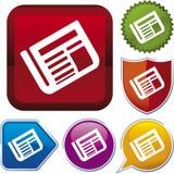 Serie del icono: periódico (vector) Imagen de archivo libre de regalías