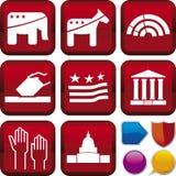 Serie del icono: política ilustración del vector