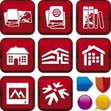 Serie del icono: recorrido Fotografía de archivo libre de regalías
