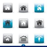 Serie del icono - servicios caseros Imagenes de archivo