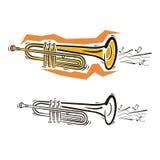 Serie del instrumento de música stock de ilustración