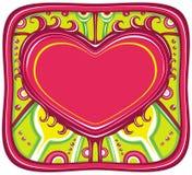 Serie del marco de la tarjeta del día de San Valentín stock de ilustración