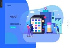 Serie del negocio - plantilla del web del catálogo de producto stock de ilustración