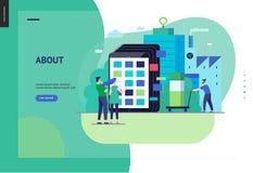 Serie del negocio - plantilla del web del catálogo de producto libre illustration