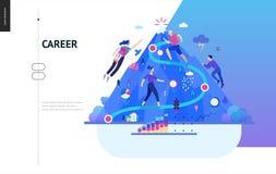 Serie del negocio - plantilla del web de la carrera libre illustration