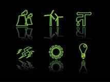 Serie del neon di ecologia Fotografie Stock Libere da Diritti