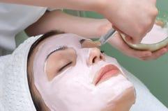 Serie del salón de belleza, máscara facial Imágenes de archivo libres de regalías