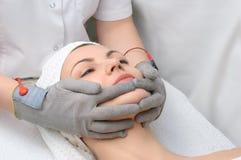 Serie del salón de belleza. masaje facial fotos de archivo libres de regalías