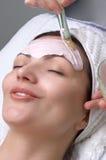 Serie del salón de belleza, máscara facial Fotografía de archivo libre de regalías