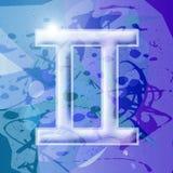 Serie del zodiaco - géminis Stock de ilustración