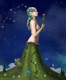 Serie del zodiaco - virgo Imágenes de archivo libres de regalías