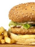 Serie dell'hamburger Fotografia Stock
