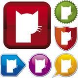 Serie dell'icona: animale domestico Fotografia Stock