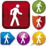 Serie dell'icona: camminare Fotografia Stock