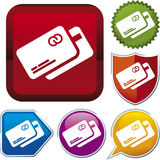 Serie dell'icona: carta di credito Fotografie Stock