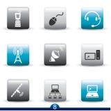 Serie dell'icona - comunicazione Fotografia Stock