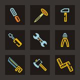 Serie dell'icona degli strumenti Fotografie Stock Libere da Diritti