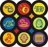 Serie dell'icona dei bambini e del bambino Immagine Stock Libera da Diritti