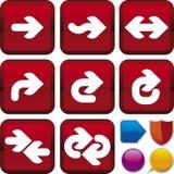 Serie dell'icona: freccia Fotografia Stock