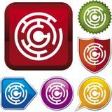 Serie dell'icona: labirinto (vettore) Fotografia Stock