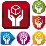 Serie dell'icona: maniglia con attenzione Immagine Stock Libera da Diritti
