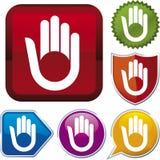 Serie dell'icona: mano (vettore) Fotografia Stock