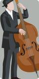 Serie dell'illustrazione del musicista Fotografie Stock