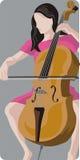 Serie dell'illustrazione del musicista Fotografia Stock Libera da Diritti