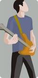 Serie dell'illustrazione del musicista Immagini Stock Libere da Diritti