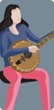 Serie dell'illustrazione del musicista Fotografie Stock Libere da Diritti