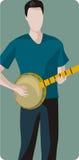 Serie dell'illustrazione del musicista Fotografia Stock