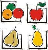 Serie dell'illustrazione della frutta Immagini Stock Libere da Diritti