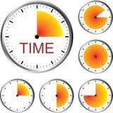 Serie dell'orologio Fotografia Stock