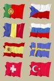 Serie della bandierina: Europeo II Immagini Stock