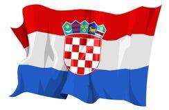 Serie della bandierina: Il Croatia Fotografie Stock