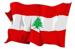 Serie della bandierina: Il Libano Immagine Stock