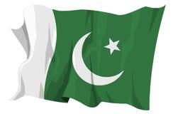 Serie della bandierina: Il Pakistan Immagini Stock