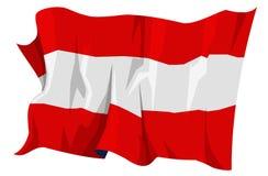 Serie della bandierina: L'Austria Immagine Stock