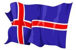 Serie della bandierina: L'Islanda Immagine Stock