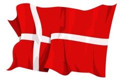 Serie della bandierina: La Danimarca Fotografie Stock