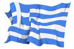 Serie della bandierina: La Grecia Fotografie Stock Libere da Diritti