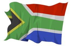 Serie della bandierina: La Sudafrica Fotografia Stock Libera da Diritti