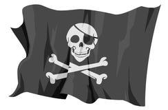 Serie della bandierina: Roger allegro - bandierina di pirata illustrazione di stock