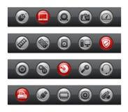 Serie della barra del tasto di // delle unità & del calcolatore Immagine Stock