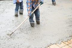 Serie della costruzione di strade del cemento fotografie stock libere da diritti
