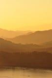 Serie della montagna sul tramonto Fotografia Stock