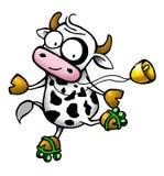 Serie della mucca - pattino di rullo Fotografia Stock