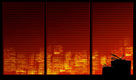 Serie della priorità bassa della finestra. Regali illustrazione vettoriale