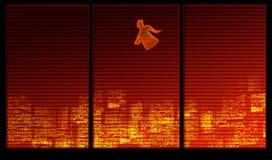 Serie della priorità bassa della finestra. Un angelo illustrazione vettoriale